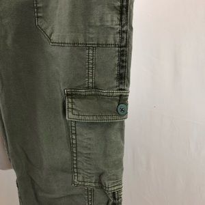 Anthropologie Pants - Hei Hei skinny olive cargo trousers size 12
